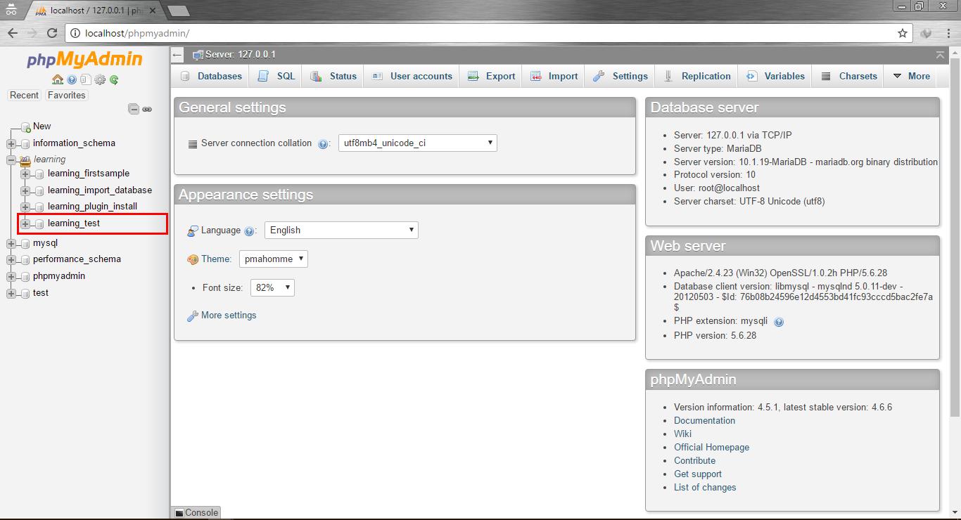 Login database